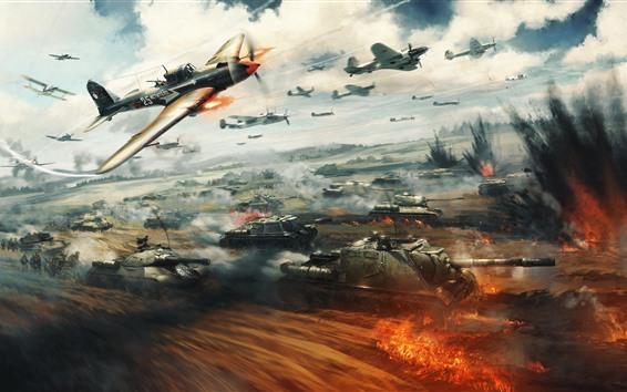 Papéis de Parede War Thunder, aviões e tanques