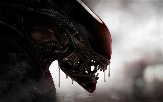 Papéis de Parede Alien, cabeça, dentes, horror
