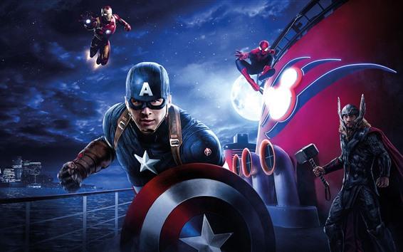 Wallpaper Avengers: Endgame, 2019 movie