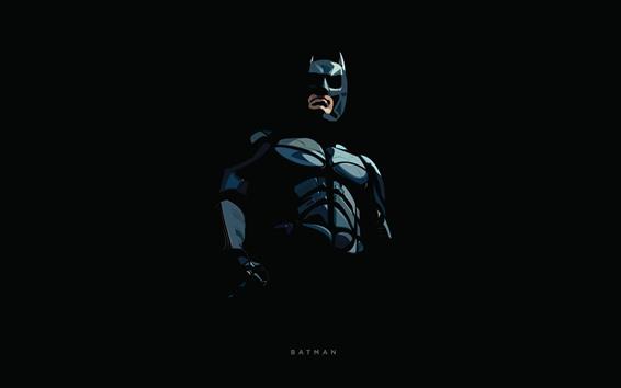 Обои Бэтмен, супергерой, художественная картина, чёрный фон