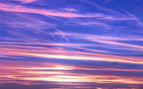 Fondos de pantalla Hermoso cielo, puesta de sol, nubes, resplandor