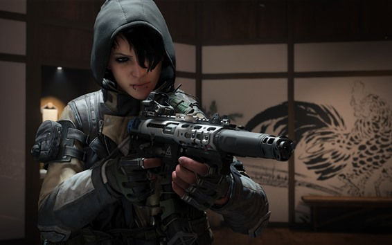 Wallpaper Call Of Duty: Black Ops 4, soldier, weapon