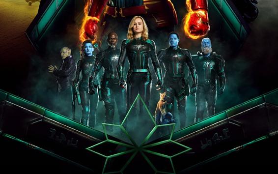 Fond d'écran Captain Marvel, DC comics movie 2019