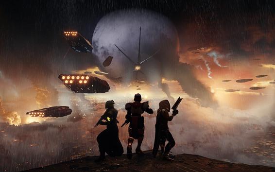 Papéis de Parede Destino 2, chuva, guerra
