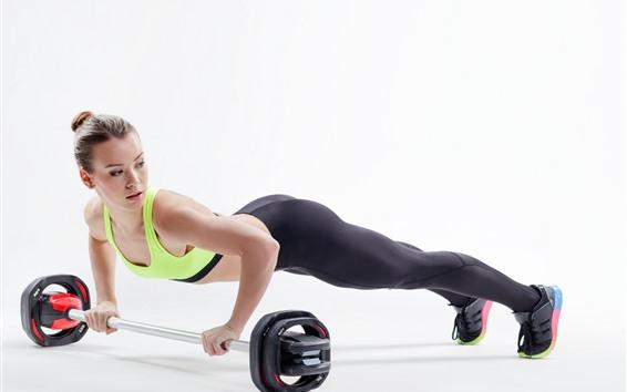 Wallpaper Fitness girl, slim, sport