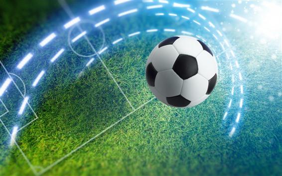 Fond d'écran Football, prairie, éblouissement
