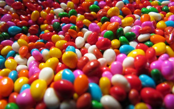 Wallpaper Lots of colorful candy pills