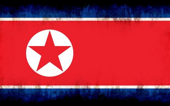 배경 화면 북한 국기, 창조적 인 그림
