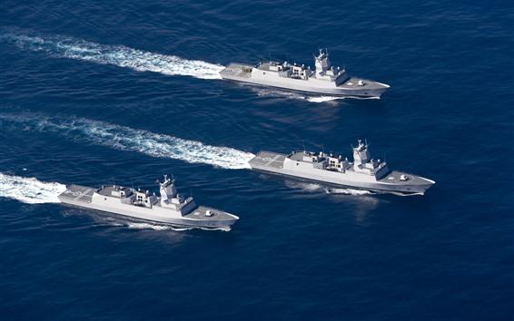 Wallpaper Norwegian Navy frigates