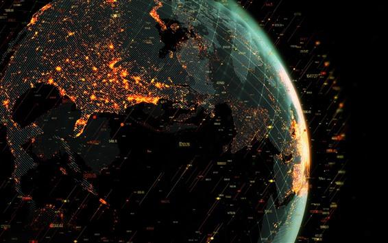 壁紙 惑星、世界地図、クリエイティブな写真