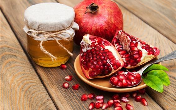 배경 화면 석류, 꿀