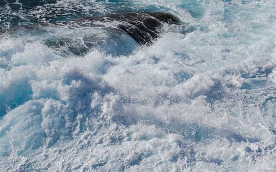 Обои Морские волны, брызги, пена