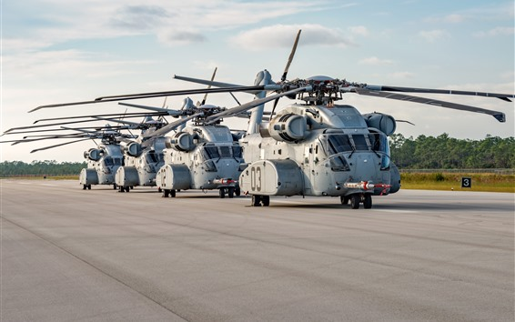 Wallpaper Sikorsky CH-53K heavy-lift cargo helicopter