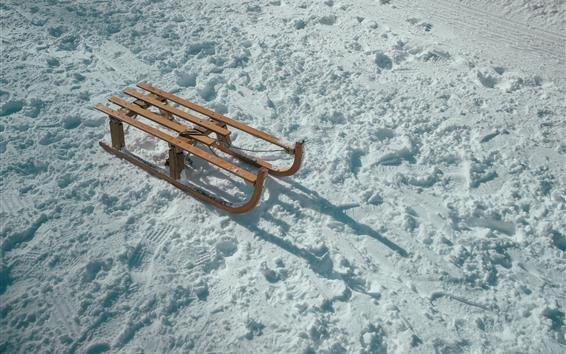Papéis de Parede Neve, trenó, inverno