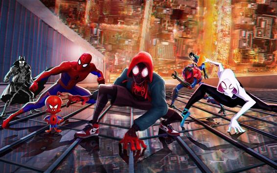 Wallpaper Spider-Man: Into the Spider-Verse, DC Comics movie
