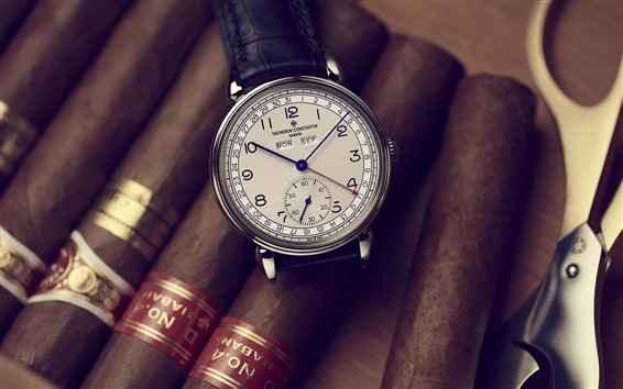 Wallpaper Vacheron Constantin watch, cigar