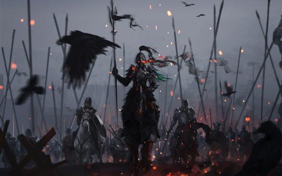 Fond d'écran Guerriers, armure, chevalier, guerre, photo d'art