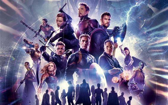 Fondos de pantalla película 2019, Avengers 4: Endgame, superhéroes de Marvel