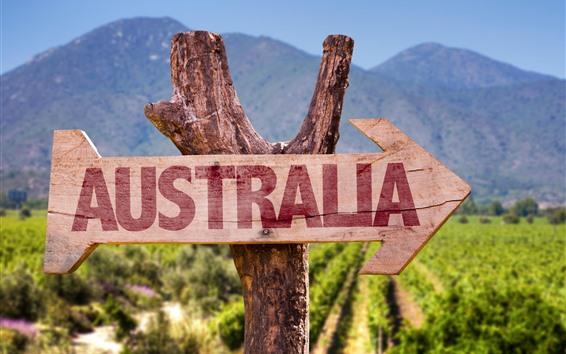 Papéis de Parede Austrália, sinal de estrada, seta