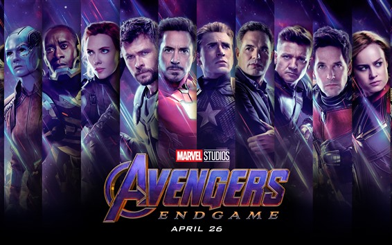 Wallpaper Avengers: Endgame, superheroes, movie 2019