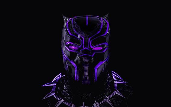 Fond d'écran Panthère noire, masque, héros Marvel