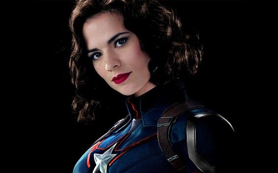 Fondos de pantalla Capitán América, chica, rizos, cara