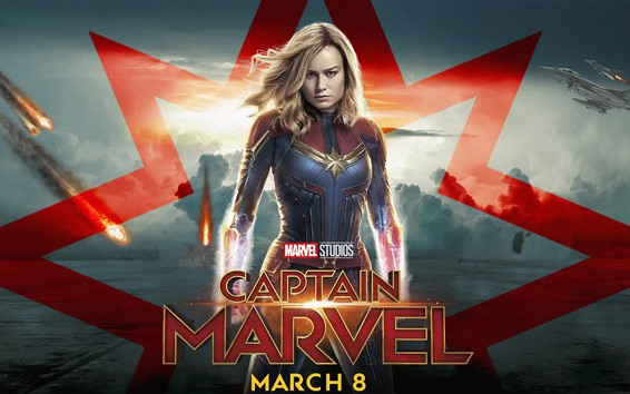 Wallpaper Captain Marvel, Brie Larson