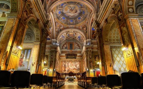 Fondos de pantalla Iglesia, roma, italia, sala