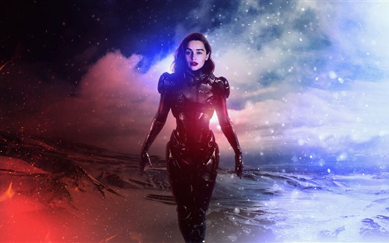 Wallpaper Emilia Clarke, Halo
