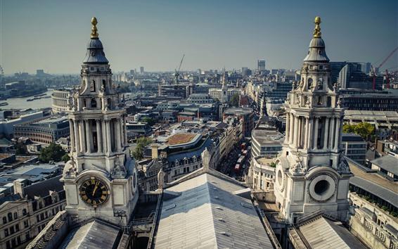 Wallpaper England, London, city, buildings, street