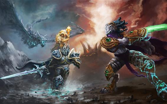 Papéis de Parede Heróis da tempestade, Warcraft, imagens de arte do jogo