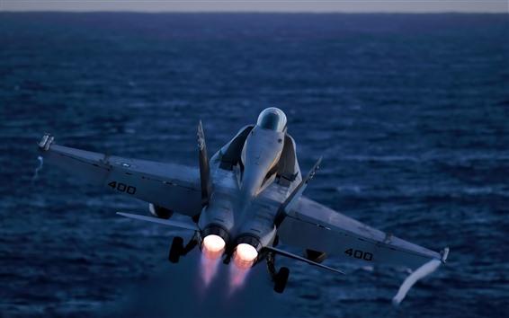 배경 화면 맥 더 넬 더글러스 FA-18 전투기 폭격기 비행, 뒷 전망