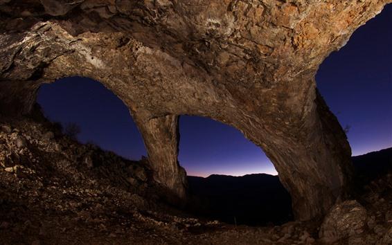 Обои Рок арка, ночь