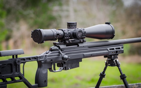 Wallpaper Sniper rifle, weapon close-up