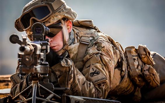 Fondos de pantalla Soldados, arma, francotirador.