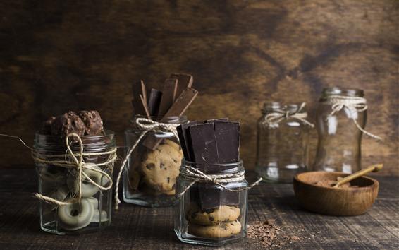 Fond d'écran Des bonbons au chocolat, dessert