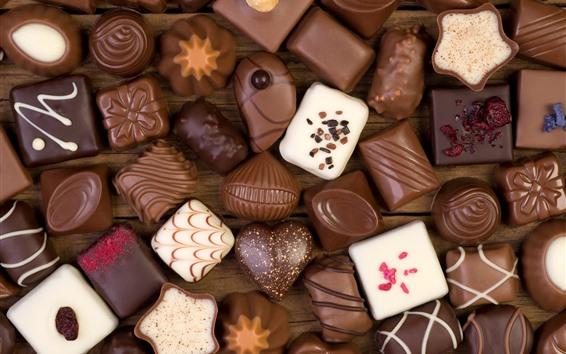 Papéis de Parede Alguns tipos de doces, chocolate