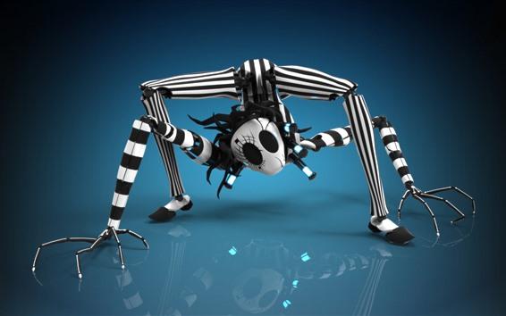 Wallpaper Spider robot, creative design