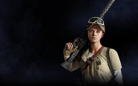 Wallpaper Star Wars: Battlefront II, girl, weapon
