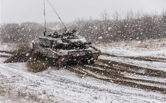 배경 화면 탱크, 육군, 눈, 겨울