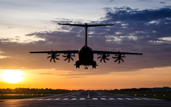 Wallpaper Airbus A400M Atlas plane flight, airport