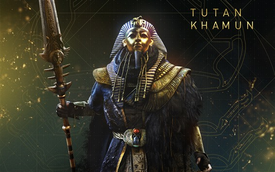 Wallpaper Assassin's Creed: Origins, The Curse of The Pharaohs, Tutankhamun