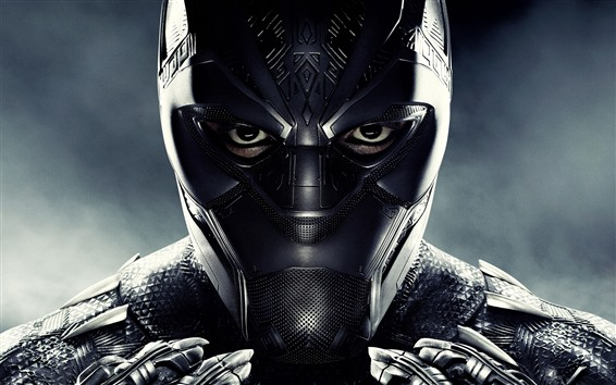 Обои Черная пантера, маска, супергерой