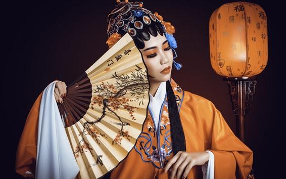 Fondos de pantalla Niña china, ópera de Pekín vestir, cultura