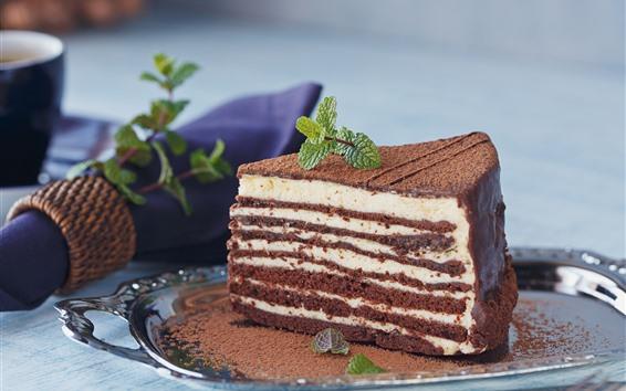 Wallpaper Chocolate cake, layers