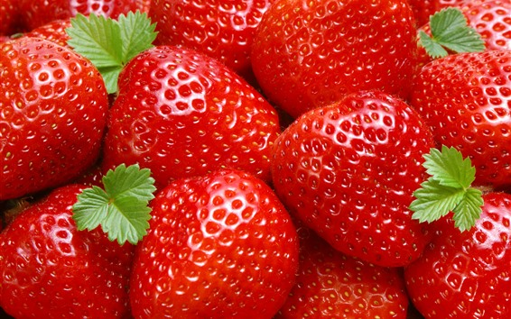 Wallpaper Fresh strawberries, red, fruits