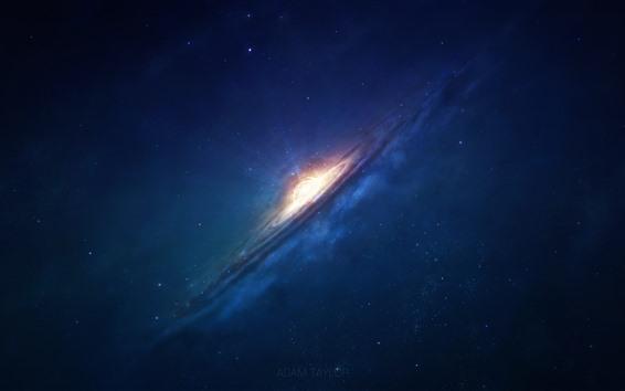 Fondos de pantalla Galaxia, hermoso espacio, estrellas, luz