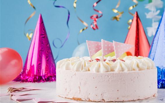 壁紙 お誕生日おめでとう、ケーキ、装飾