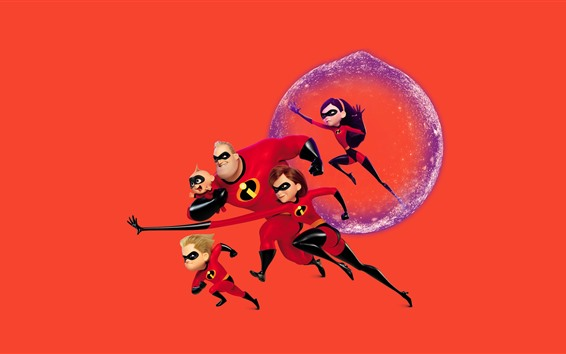 Fond d'écran Incredibles 2, film d'animation Disney