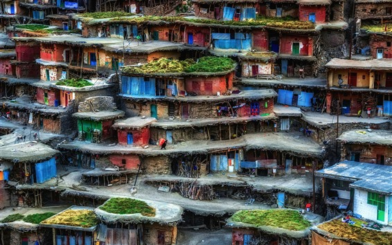 Wallpaper Iran, slum, houses